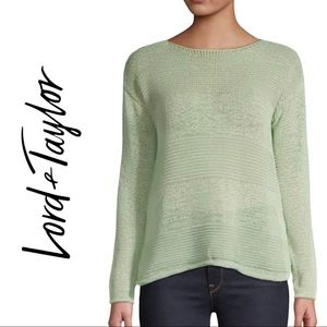 NWT Lord & Taylor Long Sleeve Open Knit Sweater